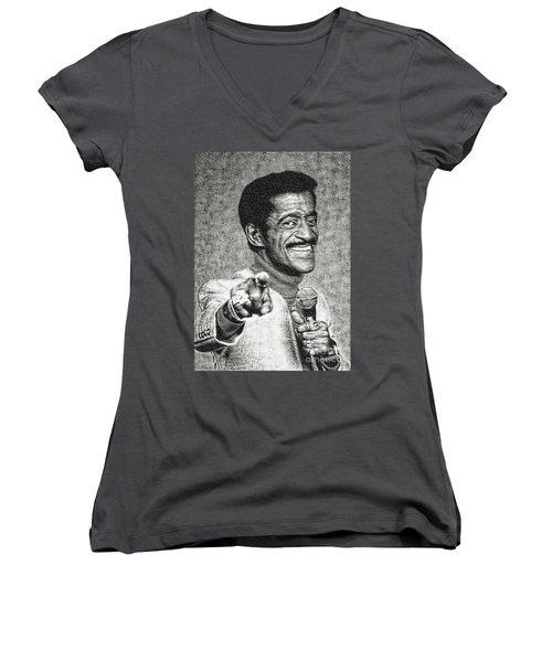 Sammy Davis Jr - Entertainer Women's V-Neck T-Shirt