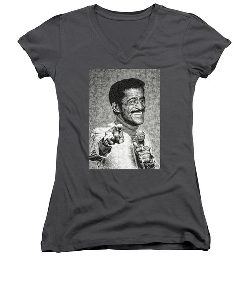 Sammy Davis Jr - Entertainer Women's V-Neck (Athletic Fit)