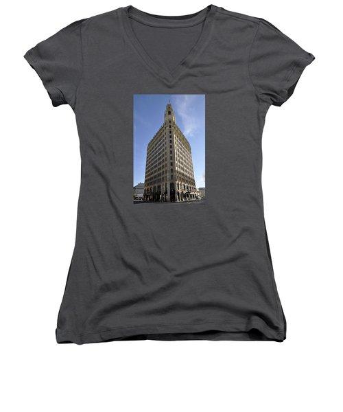 San Antonio Building 2 Women's V-Neck T-Shirt