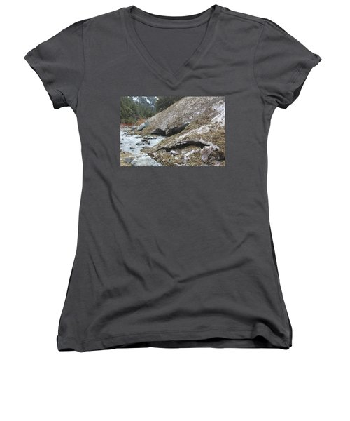 San Antonio Glacier Women's V-Neck T-Shirt