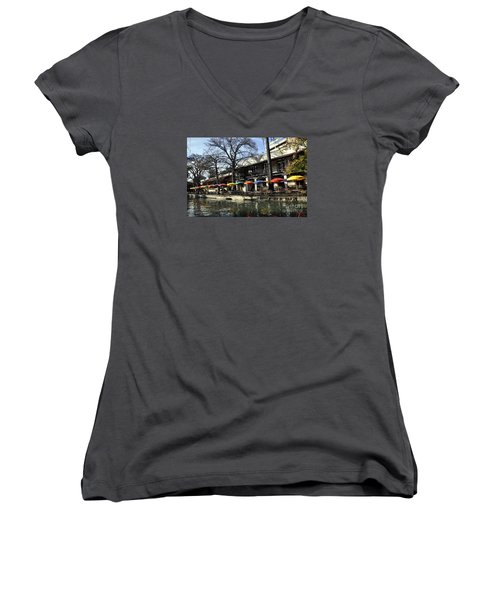 San Antonio River Walk 2 Women's V-Neck (Athletic Fit)