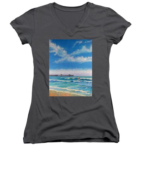 San Clemente Surf Women's V-Neck