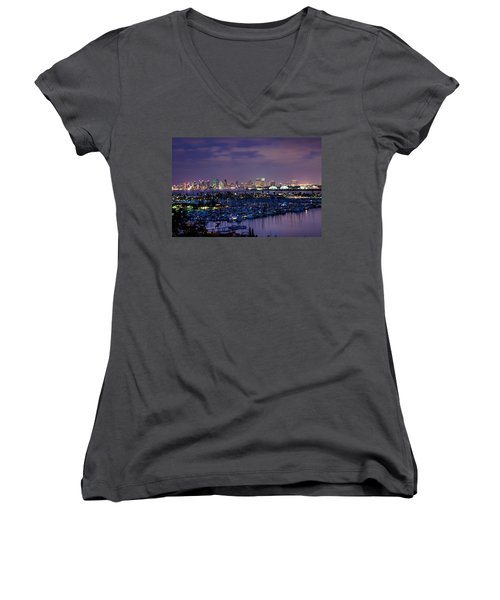 San Diego Skyline 4 Women's V-Neck