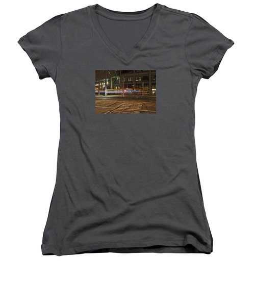 San Diego Trolly Women's V-Neck (Athletic Fit)