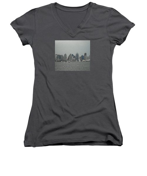 San Diego Waterfront Women's V-Neck (Athletic Fit)