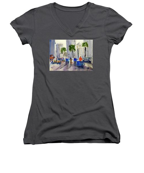 San Francisco Embarcadero Women's V-Neck T-Shirt