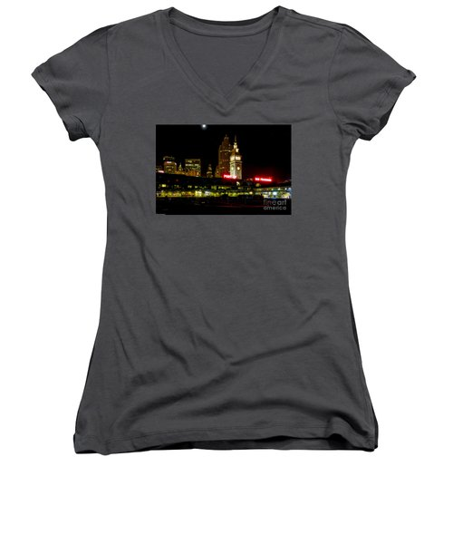 San Francisco Nights Women's V-Neck (Athletic Fit)