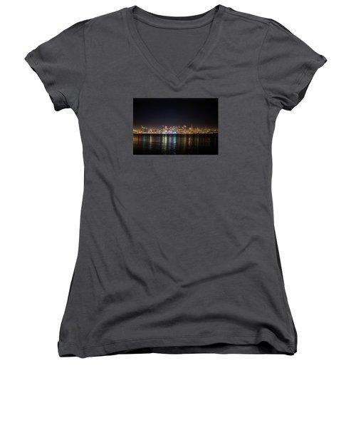 San Francisco Shot Women's V-Neck T-Shirt