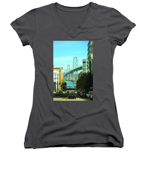 San Francisco Street Women's V-Neck (Athletic Fit)
