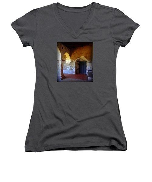 San Juan Capistrano Mission Women's V-Neck T-Shirt