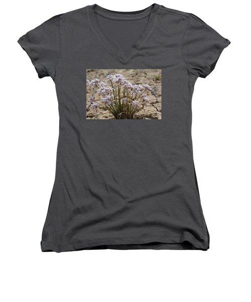 Women's V-Neck T-Shirt (Junior Cut) featuring the photograph San Juan Onion by Jenessa Rahn