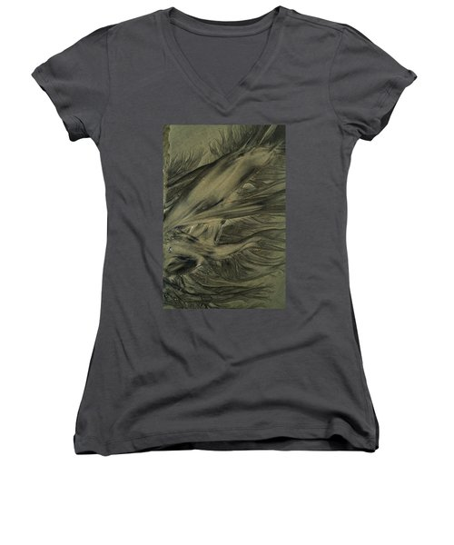 Sand Patterns Myths Of The Ages Women's V-Neck T-Shirt (Junior Cut) by Todd Breitling