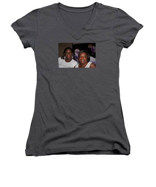 Sanderson - 4526 Women's V-Neck T-Shirt (Junior Cut) by Joe Finney
