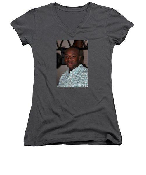 Sanderson - 4541 Women's V-Neck T-Shirt (Junior Cut) by Joe Finney