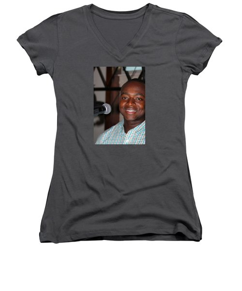 Sanderson - 4542 Women's V-Neck T-Shirt (Junior Cut) by Joe Finney
