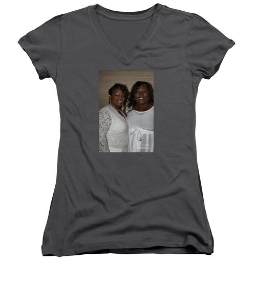 Sanderson - 4543 Women's V-Neck T-Shirt (Junior Cut) by Joe Finney
