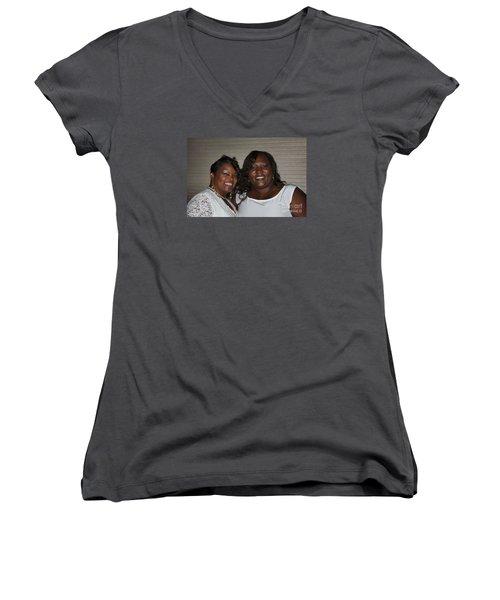 Sanderson - 4544 Women's V-Neck T-Shirt (Junior Cut) by Joe Finney