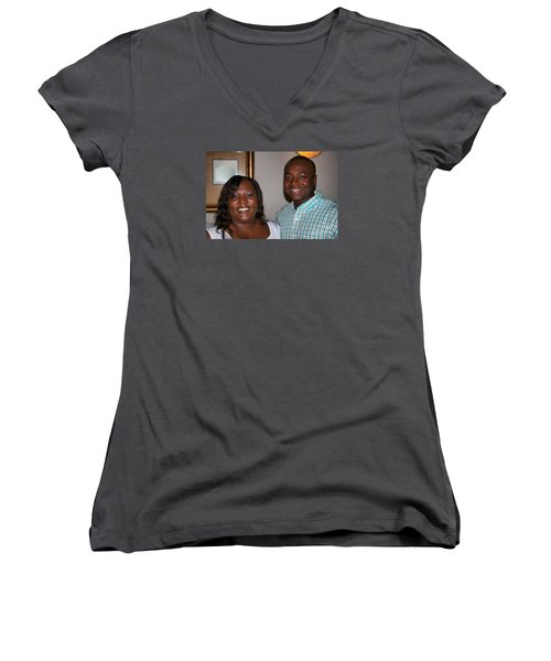 Sanderson - 4545 Women's V-Neck T-Shirt (Junior Cut) by Joe Finney