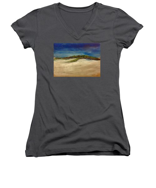 Sandilands Beach - Overcast Day Women's V-Neck (Athletic Fit)