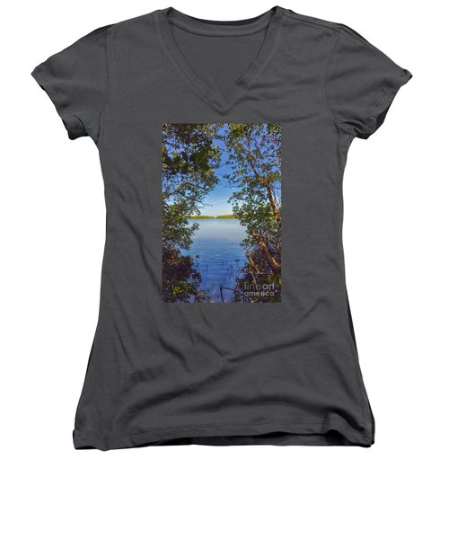 Sanibel Bay View Women's V-Neck T-Shirt