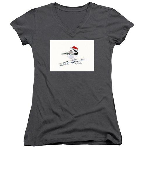 Santa Bandit - Chickadee Women's V-Neck