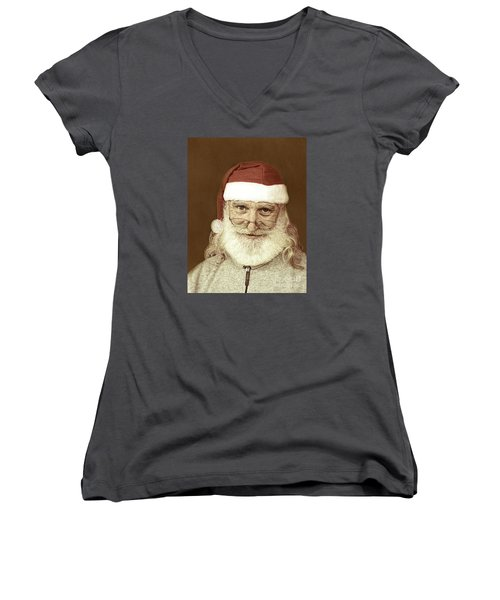Santa's Day Off Women's V-Neck (Athletic Fit)