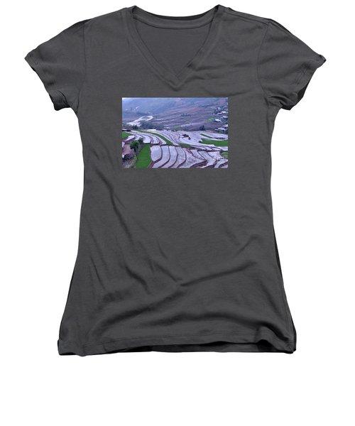 Sapa Rice Paddies Women's V-Neck T-Shirt