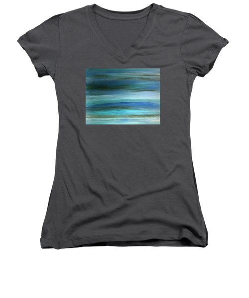 Sapphire Mirage  Women's V-Neck T-Shirt (Junior Cut)