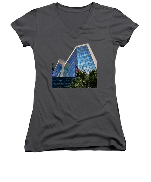 Sarasota Architecture Glass Transparency Women's V-Neck T-Shirt