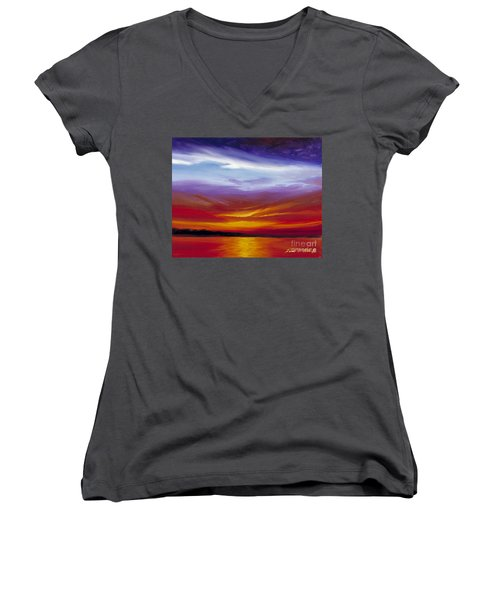 Sarasota Bay I Women's V-Neck T-Shirt
