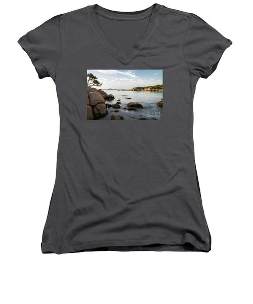 Sardinian Coast Women's V-Neck T-Shirt