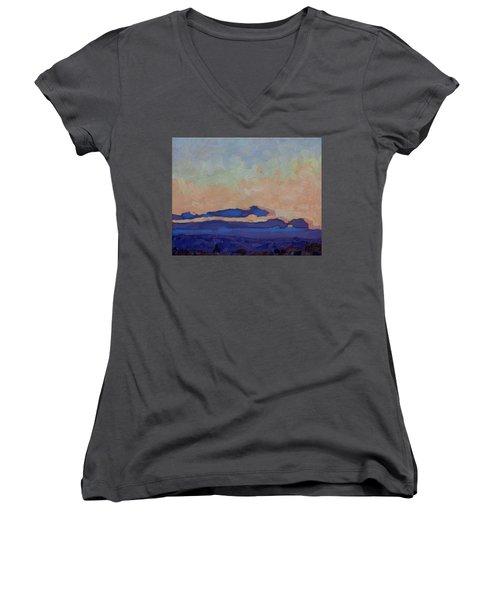 Saturday Stratocumulus Sunset Women's V-Neck T-Shirt