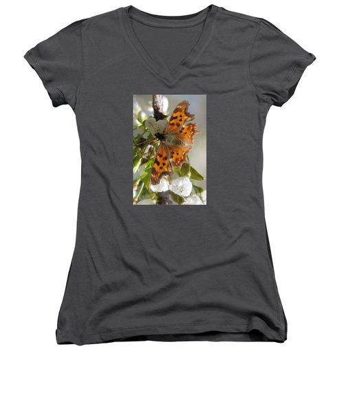 Satyr Comma Women's V-Neck T-Shirt (Junior Cut)