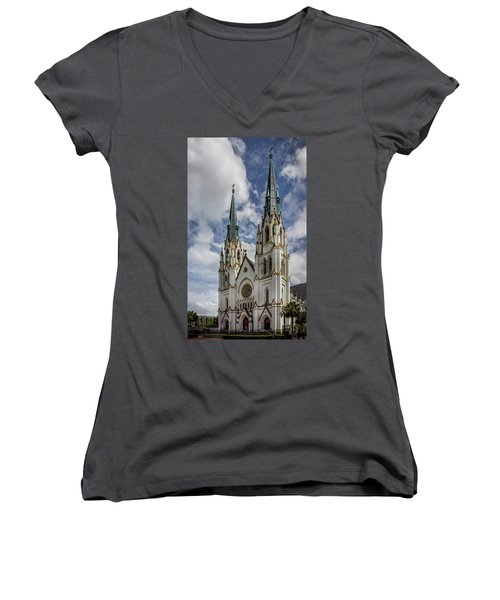 Savannah Historic Cathedral Women's V-Neck