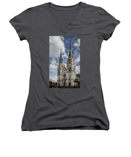 Savannah Historic Cathedral Women's V-Neck