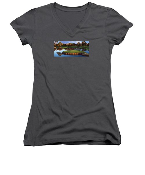 Sawgrass 17th Hole Hol Women's V-Neck T-Shirt