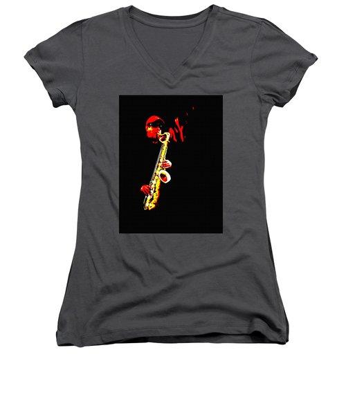 Sax Tribute Women's V-Neck