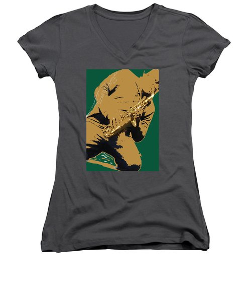 Saxual Passion Women's V-Neck (Athletic Fit)