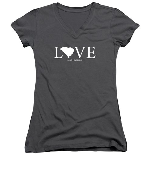 Sc Love Women's V-Neck T-Shirt (Junior Cut) by Nancy Ingersoll