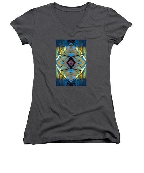 Scaffolding 5275 N69v2 Women's V-Neck T-Shirt (Junior Cut) by Raymond Kunst