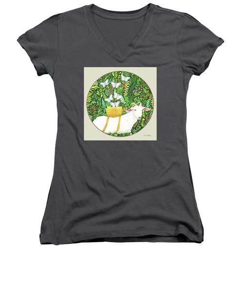 Scapegoat Button Women's V-Neck (Athletic Fit)