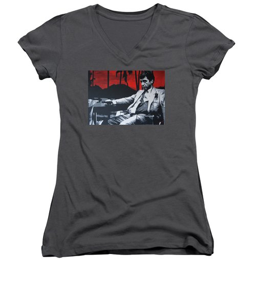 Scarface - Sunset 2013 Women's V-Neck T-Shirt