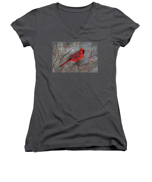 Scarlet Sentinel Women's V-Neck T-Shirt