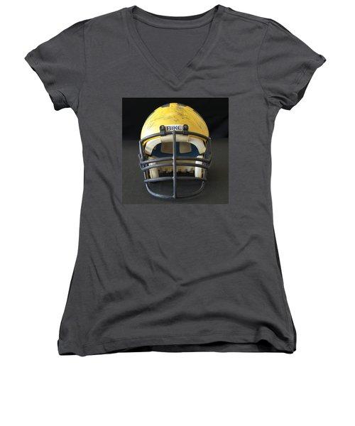 Scarred 1980s Wolverine Helmet Women's V-Neck