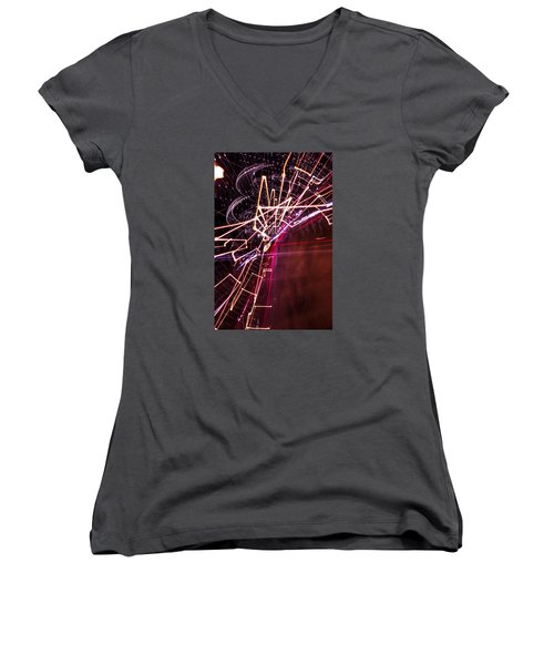 Women's V-Neck T-Shirt (Junior Cut) featuring the photograph Scatter  by Micah Goff
