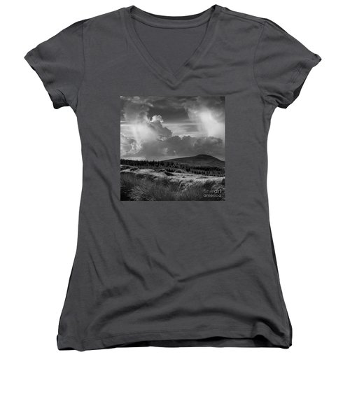 Scattering Clouds Over The Cronk Women's V-Neck