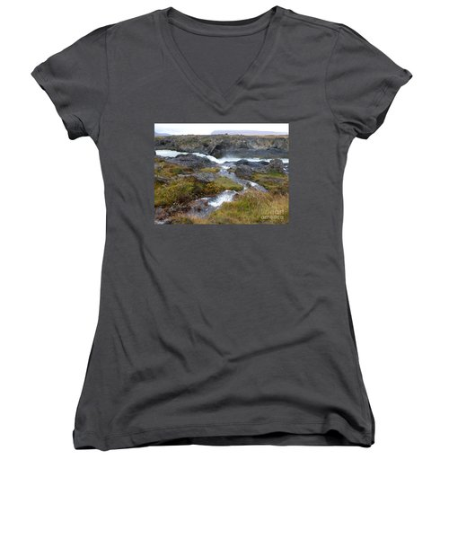 Scenic Intersection Women's V-Neck (Athletic Fit)