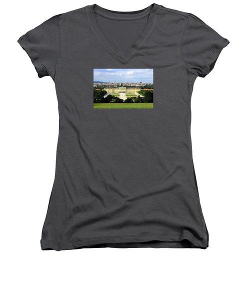 Schloss Schoenbrunn, Vienna Women's V-Neck T-Shirt (Junior Cut) by Christian Slanec