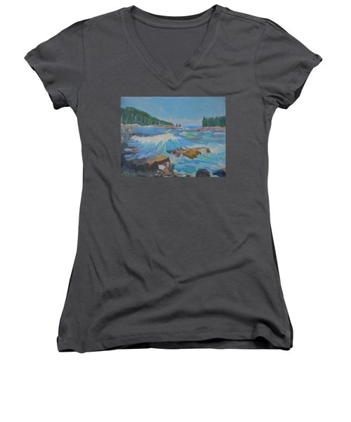 Schoodic Inlet Women's V-Neck (Athletic Fit)