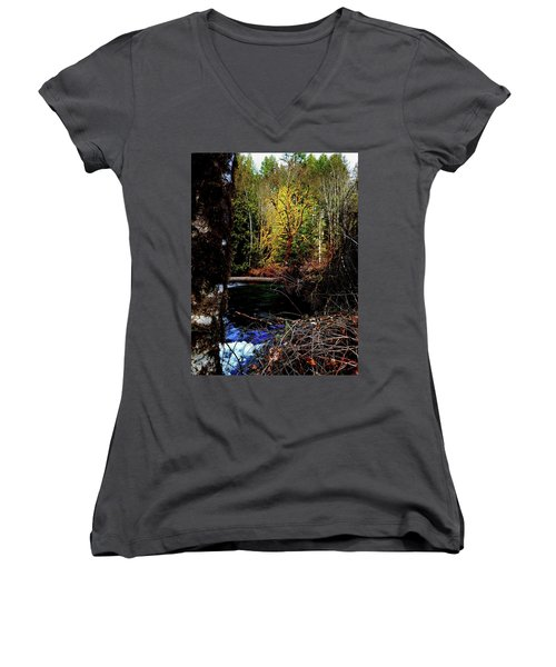 Scoggins Creek 3 Women's V-Neck T-Shirt